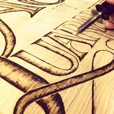 #workinprogress #woodburning #handlettering #lettering #ashwood #patience #blisters