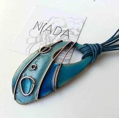 Dark blue and light blue cloisonne jewelry blue necklace