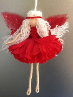 Meet 'berry frost' fairy, fairy ornament, fairy doll, wire fairy Wire doll