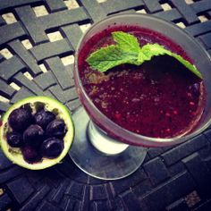 frozen mojito, cocktail, blueberry mojito, the life eclectic, caroline culwell