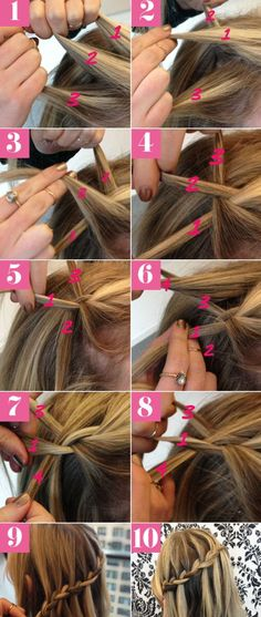 Waterfall Hair Tutorial