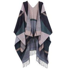 7f27a42339571 Women s Winter Shawl Wrap Cardigans Tassels Blanket Scarf Warm