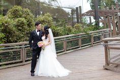 Bride and groom portraits, a San Francisco Zoo wedding  by TréCreative Film&Photo trecreative.com