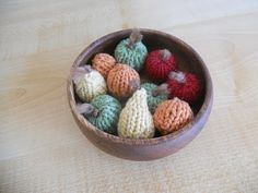 Miniature knitted fruit!