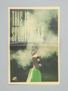 vintage inspired nike ads - type + still images