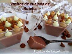 Vasitos de cuajada de Nutella con y sin Thermomix