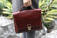 Handmade handbag briefcase satchel purse leather crossbody bag shoulder bag women