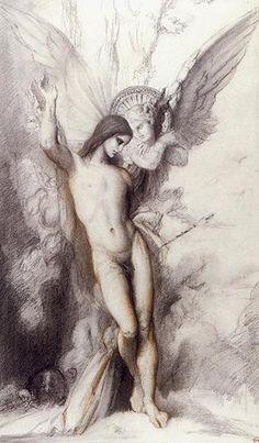gustave moreau painting, saint sebastian