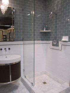 graphite glass #tile, large #hexagon marble #flooring
