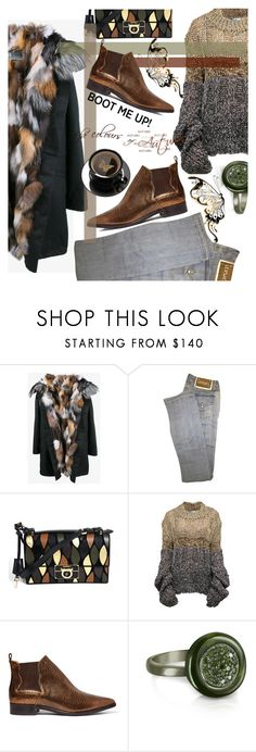 """Kick it: Chelsea Boots"" by klementina-kuzma ❤ liked on Polyvore featuring Army by Yves Solomon, Versace, Salvatore Ferragamo, Mihaela Markovic, 8 and Azhar"