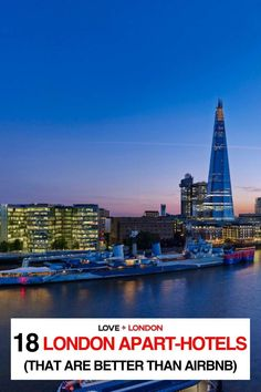 As a Londoner and a travel expert, I don't think anyone should be booking airbnbs in London. If you still want somewhere to stay that has a kitchen and sitting area, here are some incredible London apart-hotels that are better than staying in an airbnb in London. Travel Expert, Travel Guides, London Tips, Phoenix Homes, Mansions Homes, London Hotels, River Thames, Best Location, London Travel