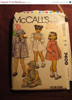 Sale Uncut 1980's McCall's sewing Pattern 7409 by EarthToMarrs, $6.40