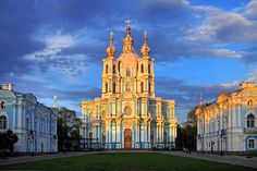 The Smolny Cathedral was built between the year 1748 and 1764. The Cathedral is a beautiful building  that has tall white wall and blue underlines. The building is in the center of the convent and it was built to house Elizabeth, the daughter of Peter the Great who decided to become a nun and give out royalty. Yet, later she decided to return to a life of royalty.
