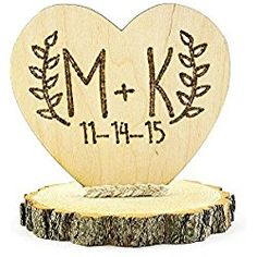 With Rustic Weddings being all the rage these days, this cake topper is perfect for the top of your cake. Engraved and after hand wood burned for an even more authentic rustic look. Wood Wedding Cakes, Wedding Cake Fresh Flowers, Rustic Wedding Cake Toppers, Wedding Topper, Wedding In The Woods, Our Wedding, Wedding Ideas, Elegant Wedding, Dream Wedding