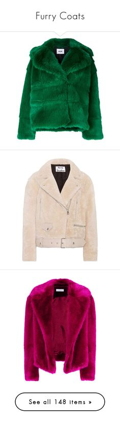 """Furry Coats"" by teagues735 ❤ liked on Polyvore featuring outerwear, jackets, coats, green, msgm, green jacket, msgm jacket, coats & jackets, tops and white"