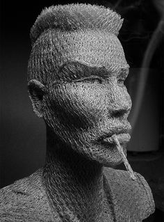 Artist Ivan Lovatt uses chicken wire to create his amazing sculptures