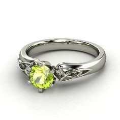 Fiona Ring, Round Peridot White Gold Ring from Gemvara. $1136 - customizable for other stones/metals (which can change price).
