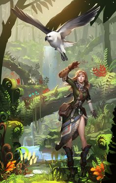 ArtStation - Falconer., Jayjiwoo Park