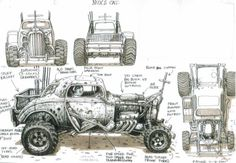 Mad Max: Fury Road Concpet Art - Peter Pound