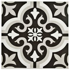 Bargain!! Create the elegant look of pricey cement tiles, but for a fraction of the cost. $2.97/SF Merola Tile Braga Classic 7-3/4 in. x 7-3/4 in. Ceramic Floor and Wall Tile (10.76 sq. ft. / case)