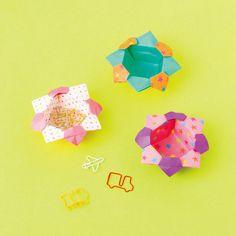 折り紙のやっこさんから作る花の小箱の折り方(おりがみ) | ぬくもり