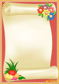 """Floral paintings"": ""Flowers of summer"" Frame Border Design, Boarder Designs, Page Borders Design, School Photo Frames, School Frame, Art Hama, Picture Borders, Boarders And Frames, Birthday Frames"