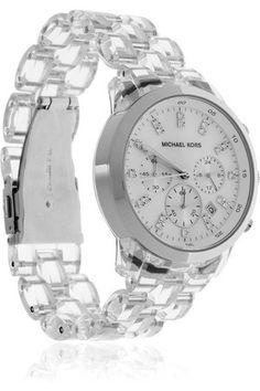 fed9f87dd026 Michael Kors Clear Chronograph Bracelet Watch New Michael Kors Watches