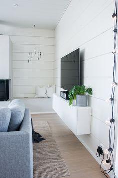 Modern log home interior - Scandinavian home - black and white interior - Finnish home - Scandinavian blog
