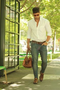 Casual menswear look Casual Wear, Casual Outfits, Men Casual, Casual Menswear, Casual Shirt, Dress Casual, Celebridades Fashion, Style Masculin, Look Man