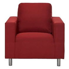 Fauteuil New York - stof - rood