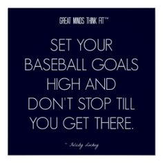 #Baseball #Quote 1: Goals for Success Poster