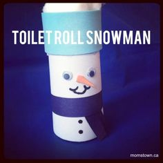 Toilet Roll Snowman Craft for Kids