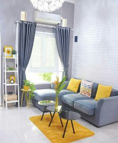 There are many elegant living room ideas that you might decide to get applied in your living room design. Because you have landed here then most probably you want Elegant living room answer. Living Room Colors, Home Living Room, Home Room Design, Apartment Decor, Living Room Color Schemes, Colourful Living Room Decor, Grey And Yellow Living Room, Elegant Living Room, Living Room Grey