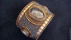 """Купить браслет """"Te Amo W"""" - серый, браслет, браслет на руку, браслет с камнями"""