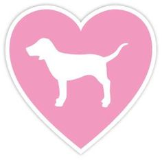 "VICTORIA'S SECRET PINK HEART DOG LOVE 4""x4"" Sticker Decal Vinyl ZapZap Stickers http://www.amazon.com/dp/B00KE9GMEA/ref=cm_sw_r_pi_dp_.-oVwb005249P"