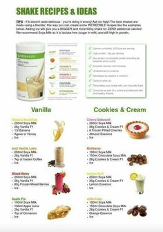 8 delicious shake recipes that are super healthy Replace 2 meals per day with these and you WILL lose body fat Find ingredients at goalsforlife goherbalife com is part of Herbalife shake recipes - Herbalife Meal Plan, Herbalife Nutrition, Herbalife Meal Replacement Shakes, Herbalife Cookies And Cream, Herbal Life Shakes, Smoothie Detox, Protein Smoothies, Fruit Smoothies, Healthy Protein