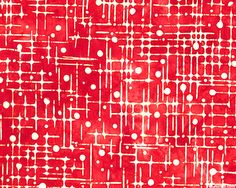 Color Source 5 - Dewy Web Batik - Cherry Red - Color Source 5 collection by Lunn Studios for Artisan Batiks for Robert Kaufman - scarlet red, milk white, flame & cherry red.