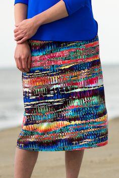 Horizon Print Pencil Skirt