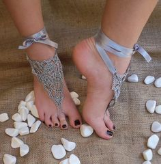 Gray Collection foot jewelry.  Pretty AND barefoot :)