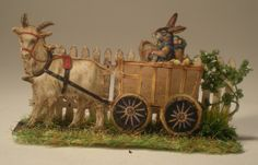 Easter Egg Cart by Dominique Autin - $135.00 : Swan House Miniatures, Artisan Miniatures for Dollhouses and Roomboxes