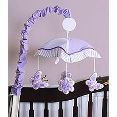 Shop for Geenny Lavender Butterfly Crib Bedding Set. Get free delivery On EVERYTHING* Overstock - Your Online Baby Bedding Shop! Purple Butterfly Nursery, Butterfly Baby Shower, Butterfly Room, Butterfly Music, Butterfly Mobile, Baby Decor, Nursery Decor, Nursery Mobiles, Nursery Ideas