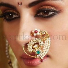 Gold Nose Rings from different parts of India Nath Nose Ring, Bridal Nose Ring, Gold Nose Rings, Nose Stud, Ethnic Jewelry, Indian Jewelry, Indian Nose Ring, Traditional Indian Jewellery, Nose Jewelry