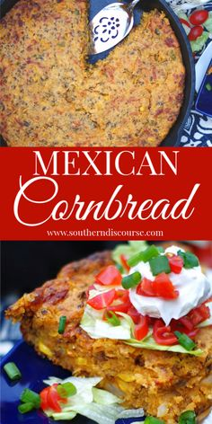 This Easy Shortcut Recipe For Mexican Cornbread Makes The Perfect One Dish Casserole Meal For Any Night Of The Week Baked Up In A Cast Iron Skillet, This Cheesy Dish Is Made With Creamed Corn, Ground Beef And Spicy Jalapenos Easy Mexican Cornbread, Mexican Cornbread Casserole, Cheesy Cornbread, Chili And Cornbread, Casserole Recipes, Mexican Cornbread Recipe Ground Beef, Cornbread Mix, Mexican Food Recipes, Beef Recipes