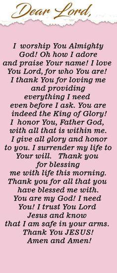 Powerful Morning Prayer of Praise and Worship to God Prayer Of Praise, Prayer Scriptures, Bible Prayers, Faith Prayer, God Prayer, Prayer Quotes, Prayer Ideas, Powerful Morning Prayer, Good Morning Prayer