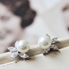 Set of 3 4 56 Bridesmaid Earrings Bridal EarringsVintage