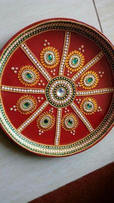 Arti Thali Decoration, Kalash Decoration, Diy Diwali Decorations, Festival Decorations, Diy Decoration, Diwali Diy, Diwali Craft, Diy Craft Projects, Diy Crafts To Sell