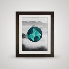 free printable posters floating landscape Framed