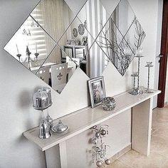 Mirror Decor Living Room, Dining Room Walls, Home Decor Bedroom, Entrance Hall Decor, Home Decor Kitchen, Home Decor Furniture, Home Decor Styles, Home Interior Design, Decoration