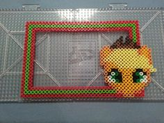 My Little Pony Applejack Perler Bead Frame by AshMoonDesigns on deviantART
