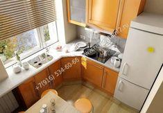 Idea for kitchen: window sill-a table - Interior Design Kitchen Interior, Interior, Kitchen Cabinets, Small Kitchen, Kitchen Cupboards, House Interior, Home Kitchens, Kitchen Design, Kitchen Desks